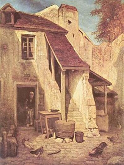 Alexandre-Gabriel Decamps - Bauernhof in Fontainebleau - 200 Teile (Puzzle)
