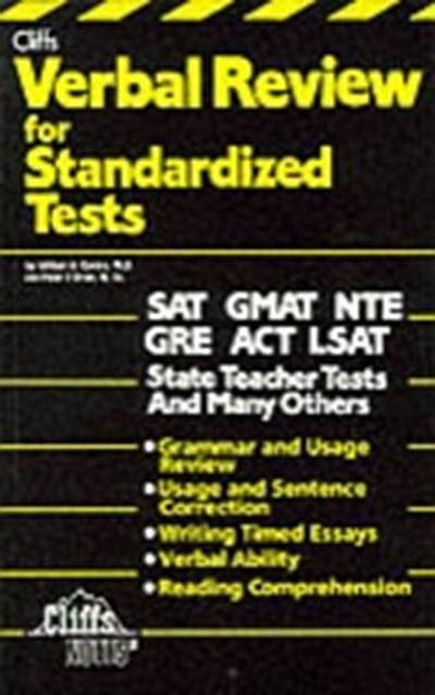 CliffsTestPrep Verbal Review for Standardized Tests