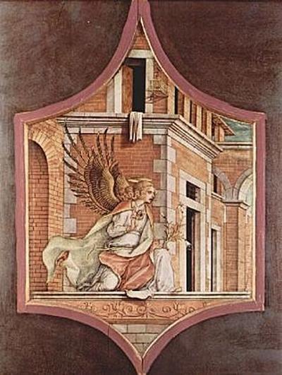 Carlo Crivelli - Altartriptychon, linker Aufsatz: Verkündigungsengel - 200 Teile (Puzzle)