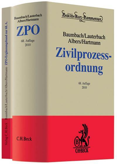 Zivilprozessordnung und Ergänzungsband: In 2 Bänden mit FamFG, GVG und anderen Nebengesetzen