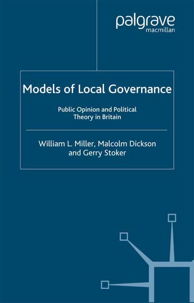 Models of Local Governance