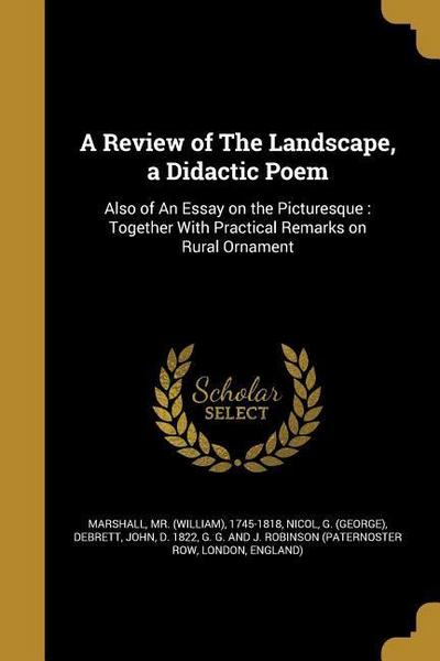 REVIEW OF THE LANDSCAPE A DIDA