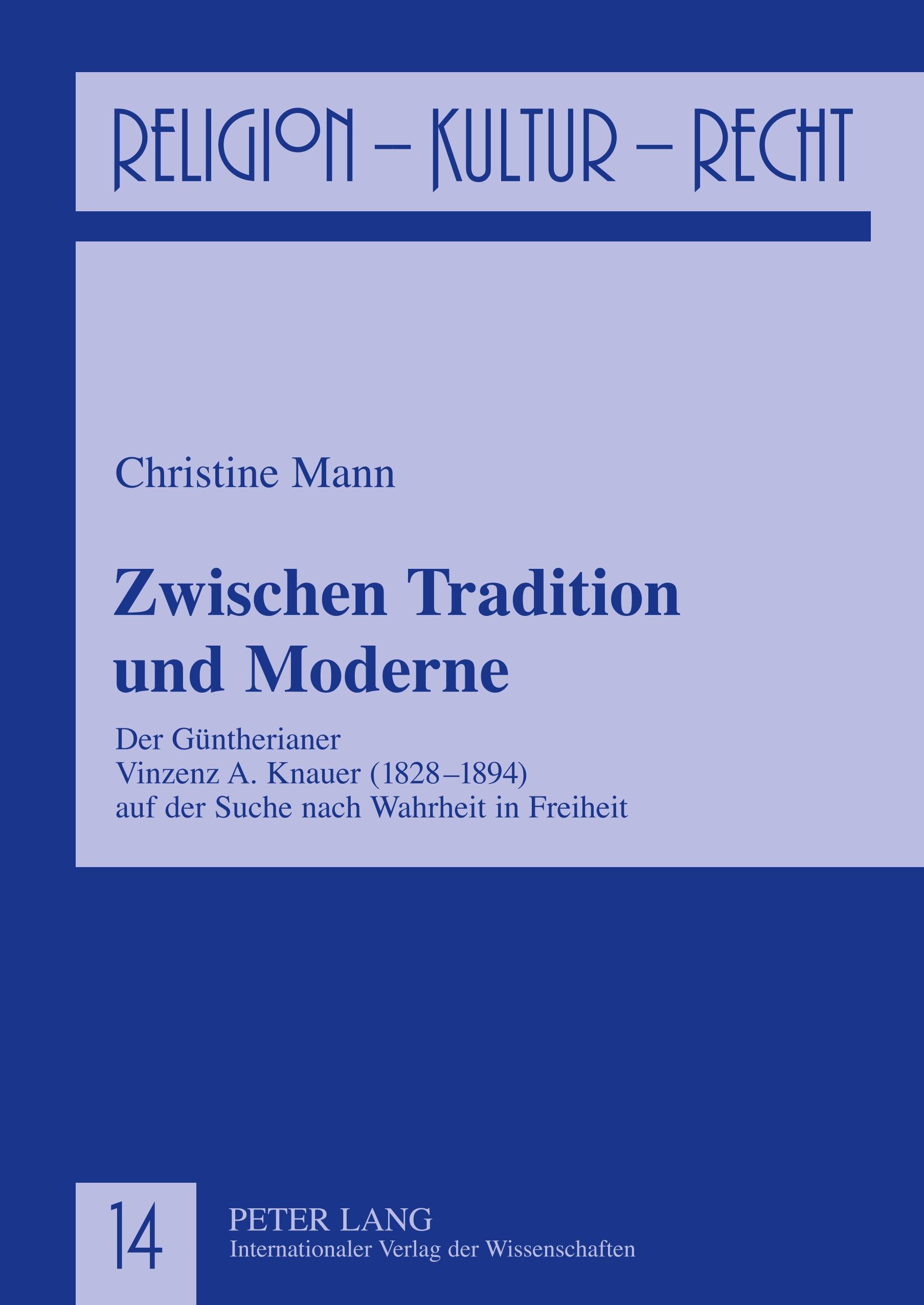Zwischen Tradition und Moderne, Christine Mann