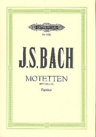 Motetten BWV 225-231