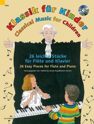 Klassik für Kinder. Flöte und Klavier