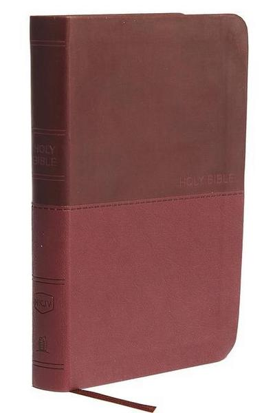 NKJV, Value Thinline Bible, Compact, Leathersoft, Burgundy,