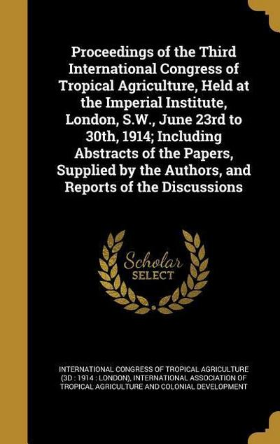 PROCEEDINGS OF THE 3RD INTL CO