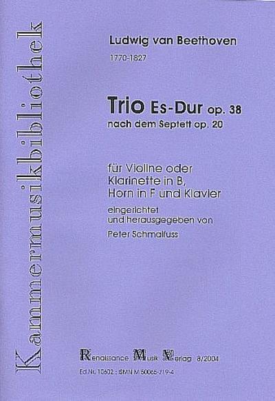 Trio Es-Dur op.38 : für Klarinette (VL),Horn und Klavier,  Partitur und Stimmen