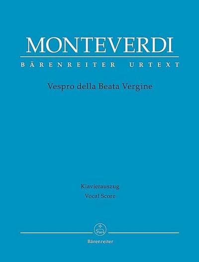 Vespro della Beata Vergine, Klavierauszug