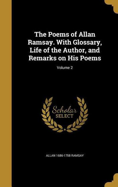 POEMS OF ALLAN RAMSAY W/GLOSSA