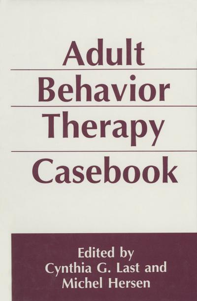 Adult Behavior Therapy Casebook