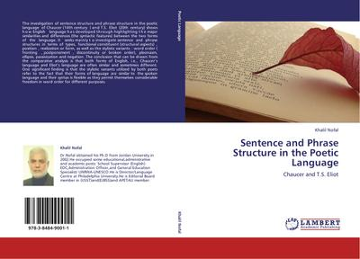 Sentence and Phrase Structure in the Poetic Language