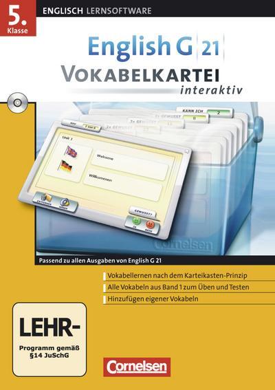 English Coach 21. Bd. 1: 5. Schuljahr. EG 21 Vokabelkartei