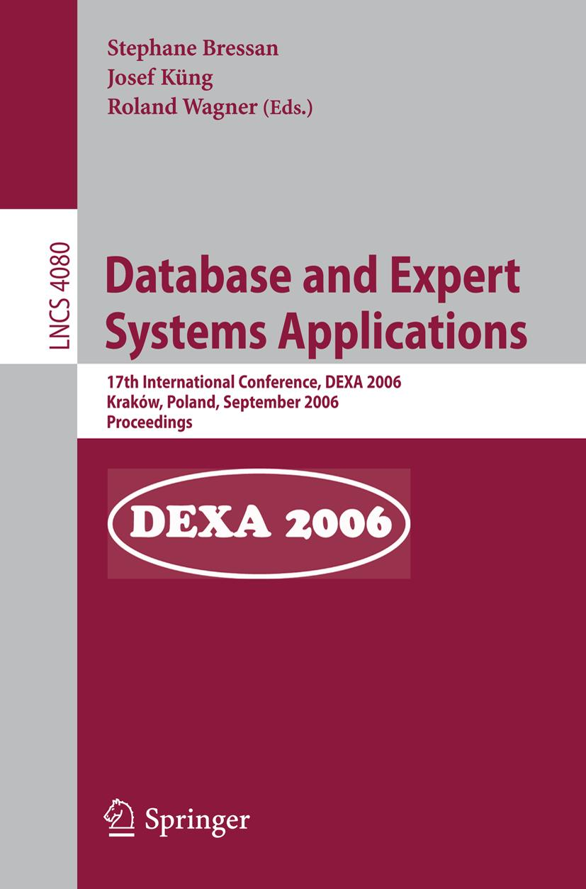 Database and Expert Systems and Applications, Stephane Bressan