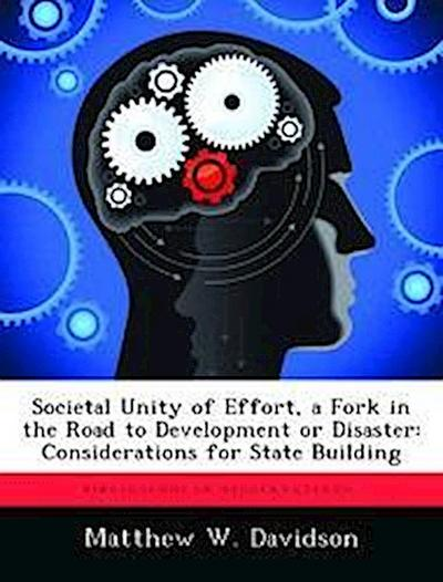 Societal Unity of Effort, a Fork in the Road to Development or Disaster: Considerations for State Building