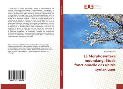 La Morphosyntaxe moundang: Étude fonctionnelle des unités syntaxiques