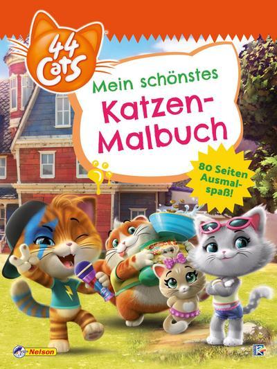 44 Cats: Mein schönstes Katzen-Malbuch