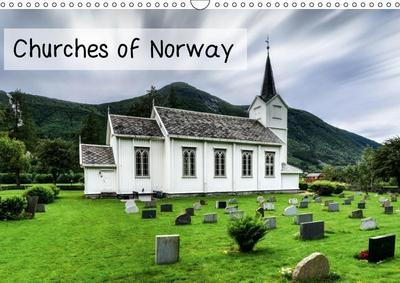 Churches of Norway (Wall Calendar 2019 DIN A3 Landscape)