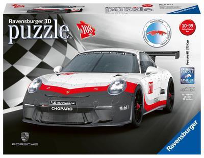 Porsche 911 GT3 Cup 3D Puzzle 108 Teile