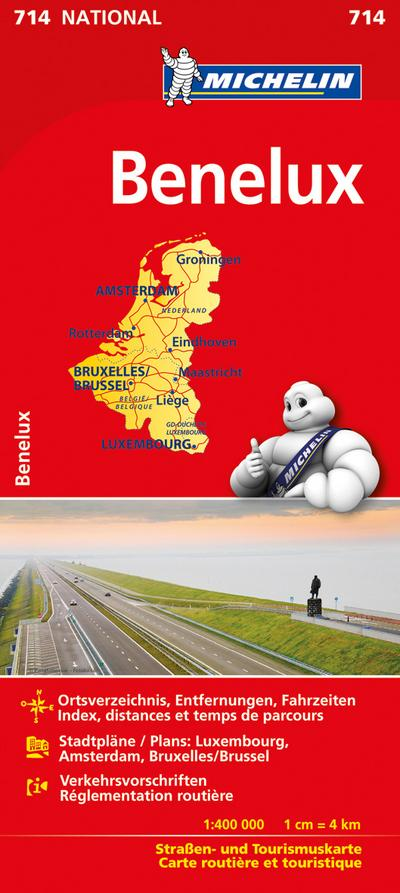 Michelin Nationalkarte Benelux 1:400 000