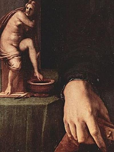 Angelo Bronzino - Porträt eines jungen Mannes mit Laute, Detail - 200 Teile (Puzzle)