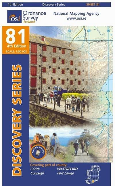 Irish Discovery Series 81. Cork, Waterford 1 : 50 000