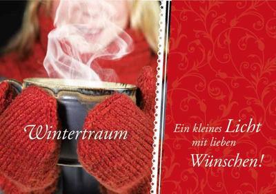 Wintertraum: Ein kleines Licht mit lieben Wünschen!