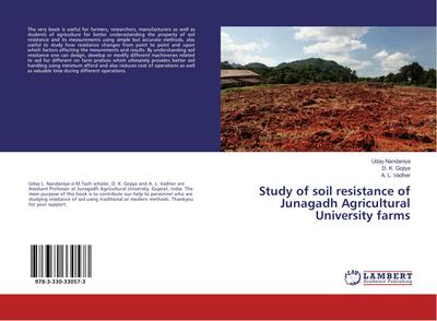Study of soil resistance of Junagadh Agricultural University farms