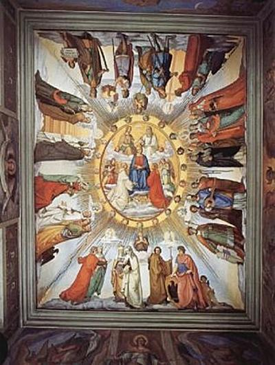Philipp Veit -Freskenzyklus, Dante-Saal, Das Empyreum und Gestalten aus den 8 Himmeln des Paradieses - 200 Teile (Puzzle)