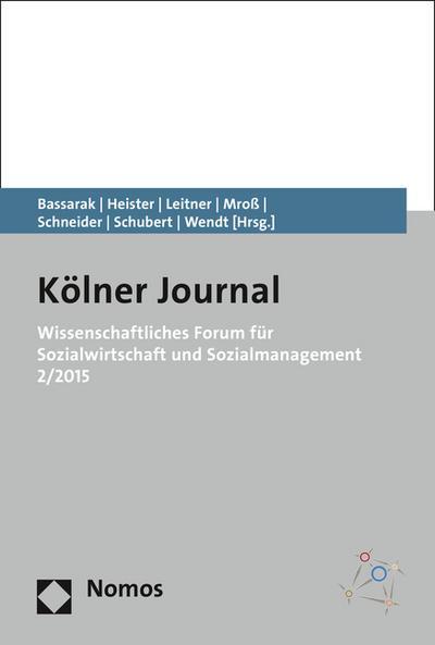 Wissenschaftliches Forum für Sozialwirtschaft und Sozialmanagement 2/2015