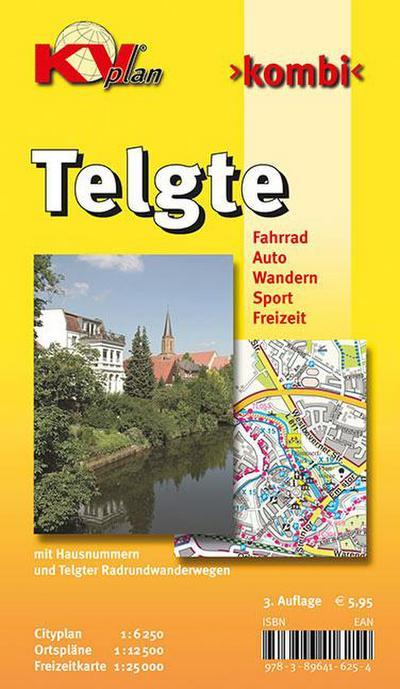 Telgte und Umgebung: 1:12.500 Stadtplan mit Freizeitkarte 1:25.000 incl. Radrouten und Wanderwege