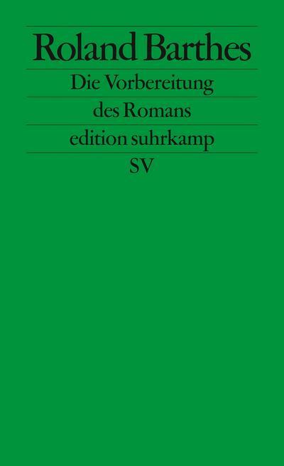 Die Vorbereitung des Romans