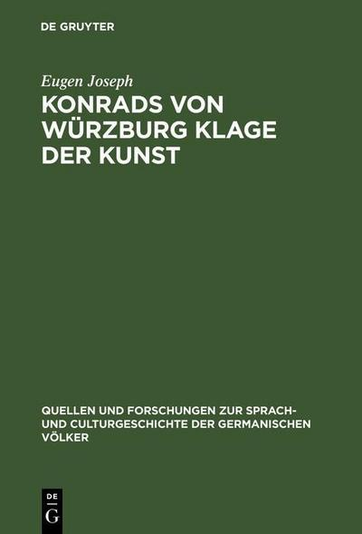 Konrads von Würzburg Klage der Kunst