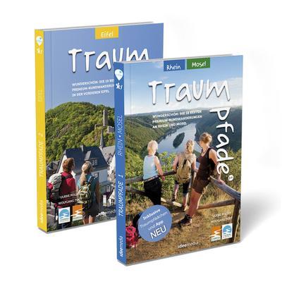 Traumpfade Geschenk-Set. Zwei Bände mit 41 Top-Touren an Rhein, Mosel und in der Eifel. Detail-Karten, GPS-Daten und Höhenprofile.