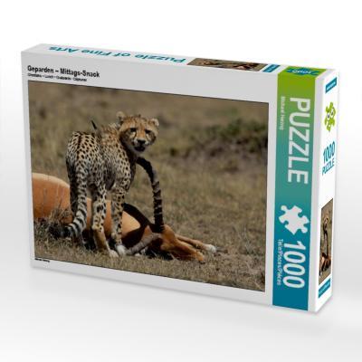 Geparden - Mittags-Snack (Puzzle)