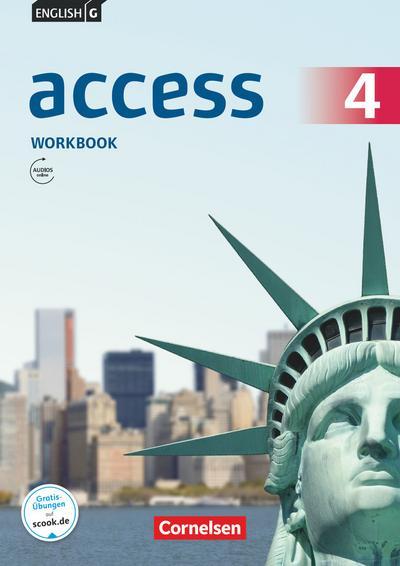 English G Access Band 4: 8. Schuljahr - Allgemeine Ausgabe - Workbook mit Audios online