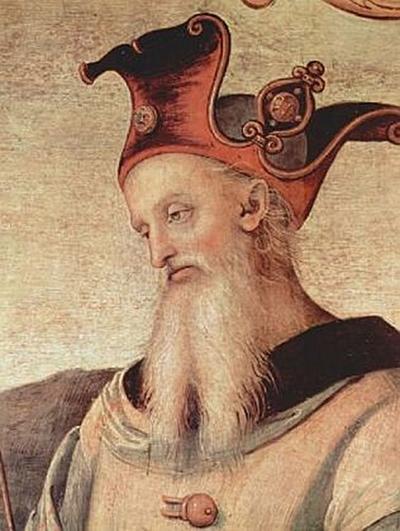 Pietro Perugino - Fortitudo und Temperantia mit antiken Helden - 500 Teile (Puzzle)