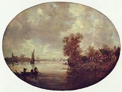 Jan van Goyen - Sommer am Fluß - 200 Teile (Puzzle)