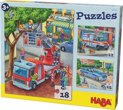 Puzzles Polizei, Feuerwehr & Co. 3 Motive