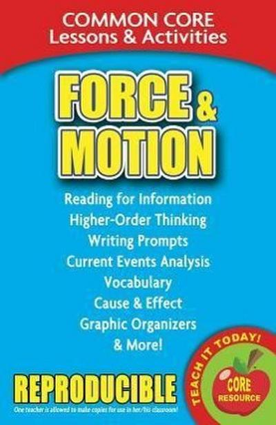 Force & Motion: Common Core Lessons & Activities
