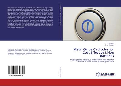 Metal Oxide Cathodes for Cost Effective Li-ion Batteries
