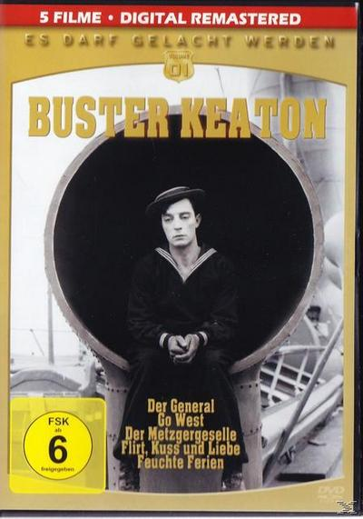 Es Darf Gelacht Werden: Buster Keaton ( Go West, Der General, Der Metzgergeselle, Feuchte Ferien, Flirt Kuss u. Liebe)