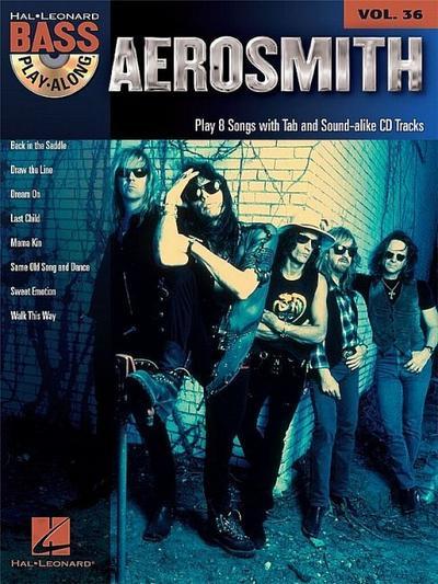 Bass Play Along Volume 36 Aerosmith Bass Guitar Bgtr BK/CD (Hal Leonard Bass Play-Along)