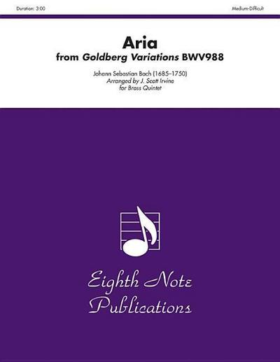 Aria (from Goldberg Variations, Bwv988): Score & Parts