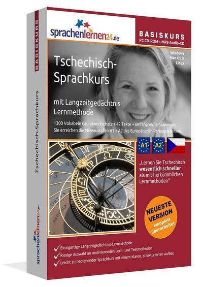 Sprachenlernen24.de Tschechisch-Basis-Sprachkurs. PC CD-ROM für Windows/Linux/Mac OS X + MP3-Audio-CD für Computer /MP3-Player /MP3-fähigen CD-Player