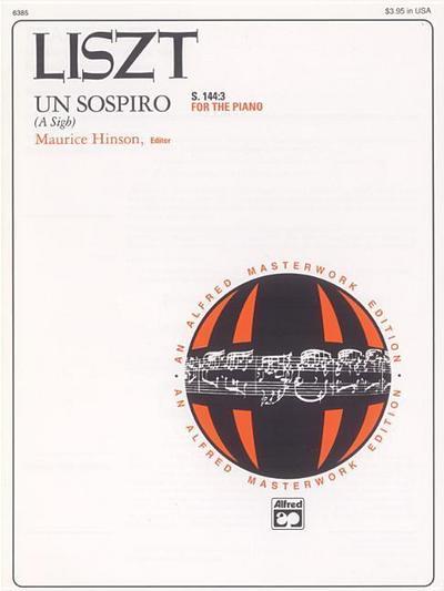 Un Sospiro, S. 144:3 (from Trois Études de Concert): Sheet