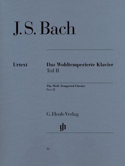 The Well-Tempered Clavier Part II BWV 870-893