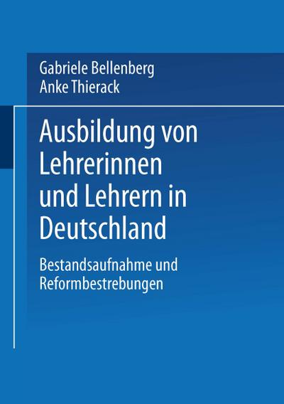 Ausbildung von Lehrerinnen und Lehrern in Deutschland