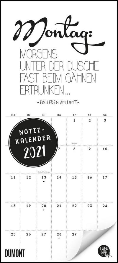 Funi Smart Art Notizkalender 2021