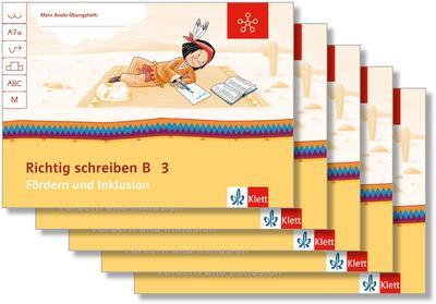 Mein Indianerheft. Richtig schreiben B. Fördern und Inklusion. Arbeitsheft Klasse 3 (5-er Paket)
